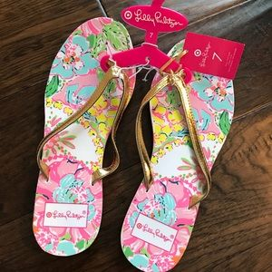 NWT Lilly Pulitzer for Target Flip Flop Sandals 7